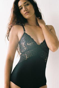 Dahlia Bodysuit Black