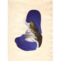 Azul // Blue    Paper collage 30x21cm