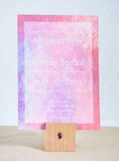 Watercolor Vintage Wedding Invitation in purple and pink on Etsy, $3.09 AUD