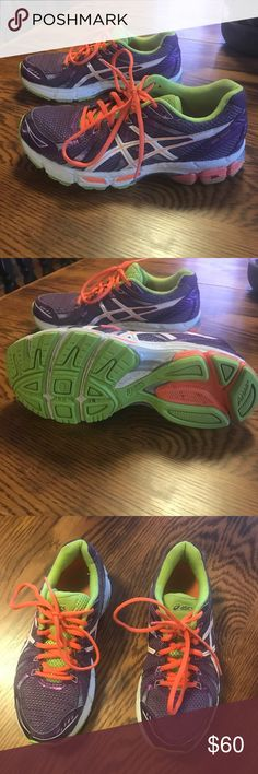 Purple and orange Asics Women s size 6.5. Gel exalt style. Very little wear. 36b525809