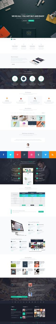 Creative homepage - TheFox PSD Template.