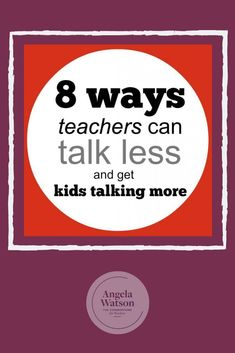 A question for new teachers: Do you find yourself talking constantly during group work and other student-directed activities? You shouldn't but it can be tempting to try to keep them on track, push them, etc. Here are 8 ways to break the habit so you will Classroom Routines, Classroom Procedures, Classroom Management, Class Management, Behavior Management, Management Tips, Classroom Ideas, Teaching Strategies, Teaching Tips