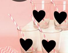 Chalkboard Heart Drinking Glass ~ Bachelorette Party Favor ~ Wedding Party Favor ~ Bridal Shower ~ Baby Shower by ModerneCottage on Etsy https://www.etsy.com/listing/209138367/chalkboard-heart-drinking-glass