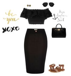 """""""Beautiful In Black"""" by jenily ❤ liked on Polyvore featuring Alexander McQueen, Marc by Marc Jacobs, Mulberry and 3.1 Phillip Lim"""