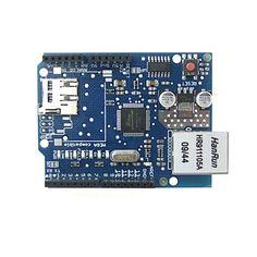 Pour Arduino: carte d'extension de réseau Ethernet Shield W5100 avec slot micro / carte sd pour Arduino – EUR € 16.55