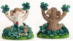 Charming Tails St Patricks Figurines