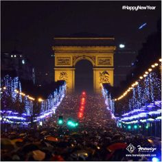 Every year people gather at the Champs-Elysees avenue in #Paris. What do you plan to do this new  year?