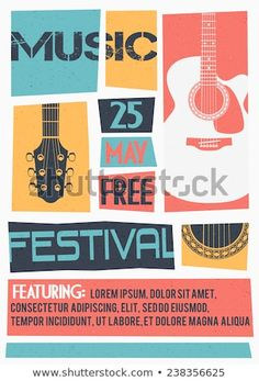 Find Vector Template Concert Poster Flyer Featuring stock images in HD and millions of other royalty-free stock photos, illustrations and vectors in the Shutterstock collection. Flat Design Poster, Event Poster Design, Graphic Design Posters, Graphic Design Inspiration, Flyer Design, Music Flyer, Concert Flyer, Concert Posters, Music Festival Posters