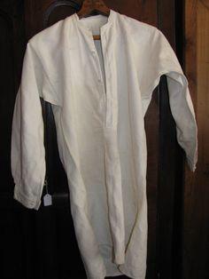 antigua camisa de lino de mangas largas