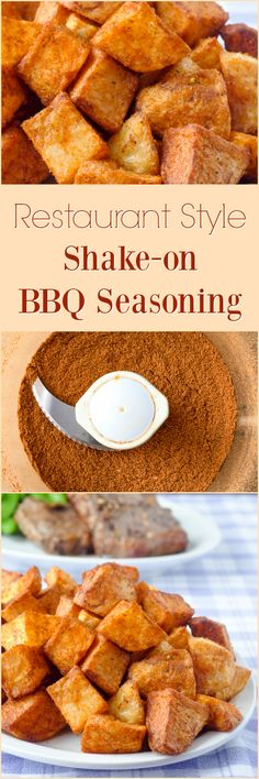 Barbecue Spice Mix Seasoning, a restaurant style shake-on seasoning blend that boosts flavour on everything from french fries & hash browns to grilled meats & veggies! Barbecue Spice Mix Seasoning, restaurant style shake-on seasoning blend K Lewis Chip Seasoning, Bbq Seasoning, Seasoning Mixes, Homemade Spices, Homemade Seasonings, Homemade Food, Grilled Vegetables, Grilled Meat, Grilled Cauliflower