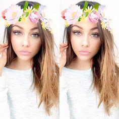 best snapchat flower filter images snapchat flower filter