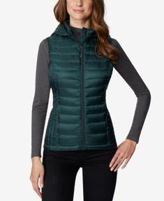 b9d179f5aad60 32 Degrees Hooded Packable Puffer Vest - Green XXL Sleeveless Jacket