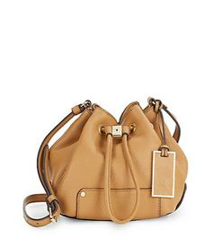 jill leather brossbody bag / vince camuto