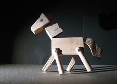 different wood animal toys hand made articulated by ovautherin, €34.20
