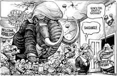 The elephant in the room. This week's KAL's Cartoon, February 27th, 2016