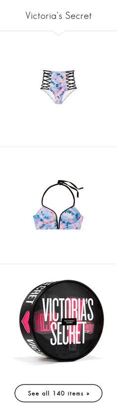 """Victoria's Secret"" by victoriajakubiak-1 ❤ liked on Polyvore featuring swimwear, bikinis, pink bikini bottoms, triangle bikinis, pink high waisted bikini, push up triangle bikini, push up triangle bikini top, beauty products, gift sets & kits and victoria's secret"