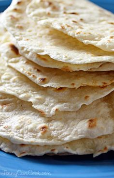 Homemade Tortillas recipe from Jenny Jones (JennyCanCook.com) Make these and you'll never buy tortillas again. See my How-To video at: http://www.jennycancook.com/videos/
