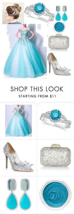 """""""ONCE UPON A TIME"""" by a-sejliiica ❤ liked on Polyvore featuring Coeur de Vague, Allurez, Jimmy Choo, Dana Rebecca Designs and 3ina"""