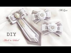 Овальный цветок канзаши / МК / DIY Kanzashi flower / Ribbon flower tutorial - YouTube