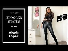 Alexis Lopez  - Leather Leggings - Faux Leather Jeans - Haul OOTD Faux Leather Jeans, Leather Leggings, My Coffee, Cool Style, Ootd, Sexy, Youtube, Fashion, Moda