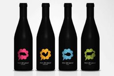 Pictogram Wine Bottles Pair Your Seafood with Your Sauvignon #wine #design trendhunter.com