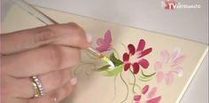 Pintura Gestual Borboletas e Margaridas