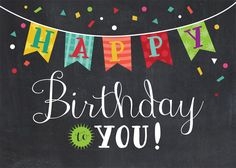 Happy Birthday Banner - Birthday Cards from CardsDirect #compartirvideos…