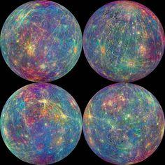 Una sonda de la NASA revela impactantes fotos antes de estrellarse en Mercurio
