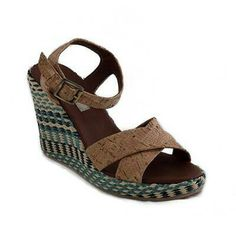 Cork Wedge Sandals #veganfashion #veganshoes #veganwomen