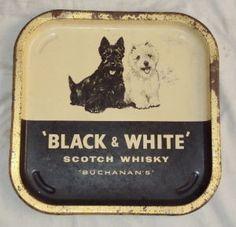 BLACK AND WHITE SCOTCH WHISKY TIN TRAY