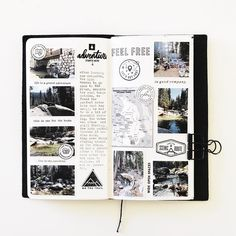September traveler's notebook by mamaorrelli at studio calico journal layout, photo journal, travel scrapbook Project Life Scrapbook, Scrapbook Journal, Journal Layout, Travel Scrapbook, Diy Scrapbook, Bullet Journal Travel, Bullet Journal Inspo, Album Photo, Photo Book