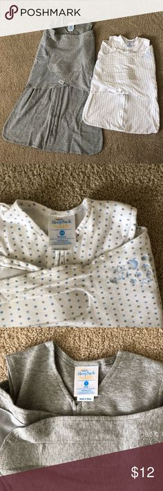 Halo Sacks lot size NB & Small Two great Halo Sacks as pictures.    Smaller white one (with blue dots) was worn a few times but is EUC with no stains or damage.  Size NB  Larger gray sack is brand new & unused.  Size Small.    Please send your best offer through the offer button!  Will accept most offers!    Thanks for looking! Halo Pajamas Sleep Sacks Blue Dots, Sleep Sacks, Halo, Larger, Pajamas, Pictures, Gray, Stains, Buttons