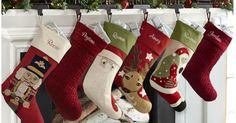 Score HOT deals on Pottery Barn Personalized Christmas Stockings!
