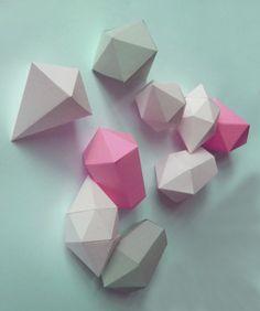 Paper Diamonds Print