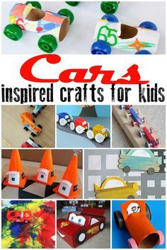 Be inspired by Disney Pixar's Cars 3 this summer and get creative with the kids with these Cars inspired crafts for all ages. via @rainydaymum