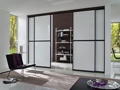 Cucina e soggiorno separati - Cucina con parete di vetro   Cucina ...