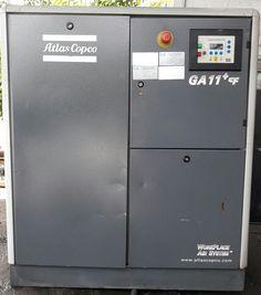 Máy nén khí trục vít Atlas Copco GA11+FF công suất 11 kw, có hệ thống tách ẩm