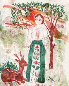 Fahion illustration Alberta Ferretti Milan fashionweek Zauberwald Stickerei  Arinda Craciun Illustration (@arinda.illustration)