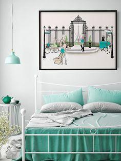 Tiffany's Paris Gate  - Illustration - Framed Limited Edition Print