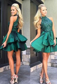 Homecoming Dress,Short Prom Dresses,Party Dresses for Teens,Cheap Homecoming Dresses,Green Open Back Homecoming Dresses,Short Prom Dresses,Pretty Party Dresses,SH44