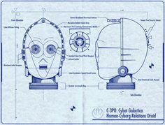 C-3P0 Cybot Galactica Human-Cyborg Relations Droid - Blueprint