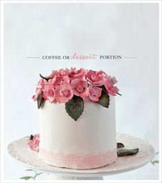 Cupcakes daily: Tutorial desmelene hydrangeas and photo! Mini Wedding Cakes, Wedding Sweets, Mini Cakes, Cupcake Cakes, Pretty Cakes, Beautiful Cakes, Amazing Cakes, Cake Pops, White Cakes