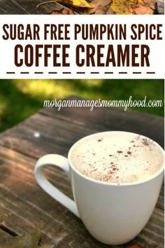 If youre a pumpkin spice fan youre going to love this Sugar Free Pumpkin Spice Coffee creamer it has all of your favorite flavors of fall but without all of the sugar! - Coffee Creamer - Ideas of Coffee Creamer Pumpkin Coffee Creamer, Sugar Free Coffee Creamer, Coffee Creamer Recipe, Spiced Coffee, Pumpkin Spice Latte, Healthy Coffee Creamer, Pumpkin Pumpkin, Latte Recipe, Coffee Recipes