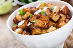 Vegan recipe for baked tofu. Best Vegan Recipes, Tofu Recipes, Cooking Recipes, Fall Recipes, Vegan Vegetarian, Vegetarian Recipes, Baked Tofu, Perfect Food, Going Vegan