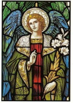 Annunciation 11  The Angel Gabriel's announcement to the young virgin Mary.