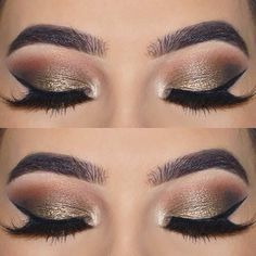 21 Insanely Beautiful Makeup Ideas for Prom: #3. ELEGANT EYE LOOK FOR BROWN EYES