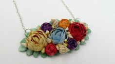 Vintage Repurposed Shell Art Necklace by LucysRedRose on Etsy, $22.50