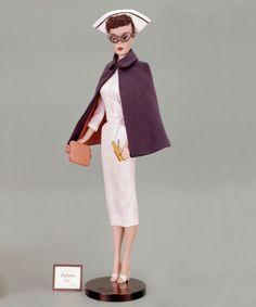 1961 registered nurse barbie - love the glasses. Makes Barbie look smart. Play Barbie, Barbie I, Vintage Barbie Dolls, Barbie World, Barbie And Ken, Barbie Clothes, Barbie Style, Nurse Barbie, Divas