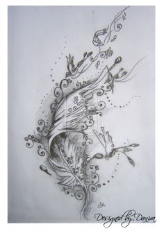 Feather by Danira.deviantart.com on @deviantART