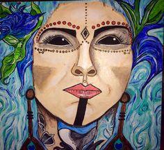 Acrylic on canvas board  Featuring Heidi Lavon